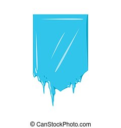 Collection of frozen icicle snow winter vector banner.
