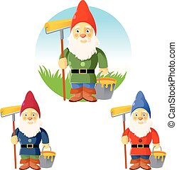 Collection of garden gnomes