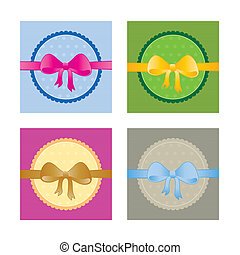 Collection of gift tags - Vector illustration of gift tags ...