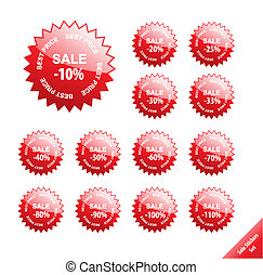Collection of glossy marketing elements. Vector discount ...