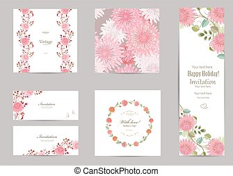 collection of greeting cards with a chrysanthemum for your...
