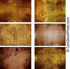collection of grunge background textures - collection of 6...