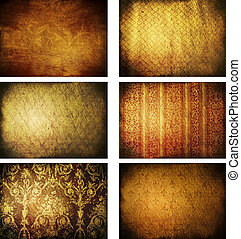 collection of grunge backgrounds