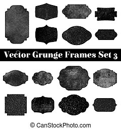 Collection of grunge stamp shapes