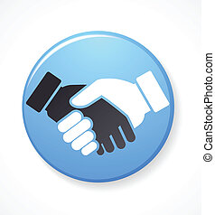 collection of handshake icons and elements - collection of ...