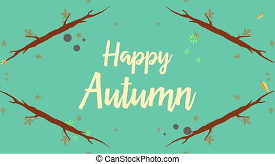 Collection of happy autumn animation footage