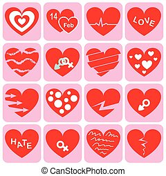 collection of heart symbol