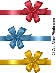 Collection of holiday colored bows