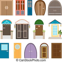 Collection of house doors
