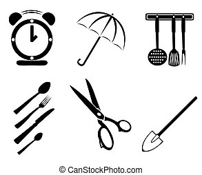 collection of household items on a