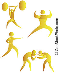 collection of human motifs doing different sports