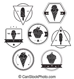 Collection of ice cream labels
