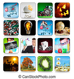 Collection of icons for programs and games