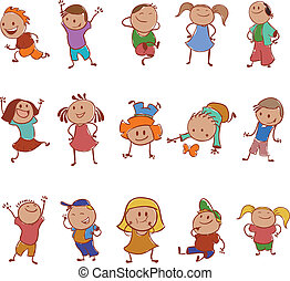 Collection of icons with the children