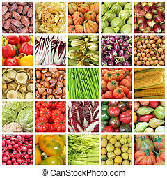 collection of images of vegetables a