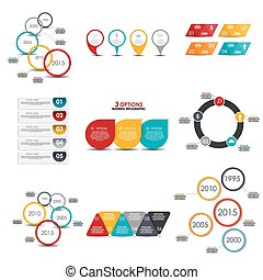 Collection of Infographic Templates for Business Vector...