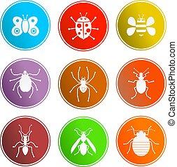 bug sign icons