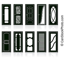 Collection of Interior Door Silhouettes