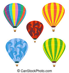 Collection of isolated balloons