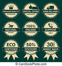 Collection of labels - for sellers.