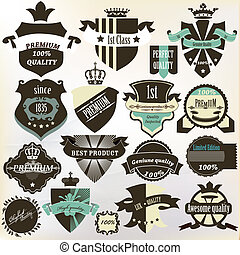 Collection of labels premium, best - Vector set of vintage...