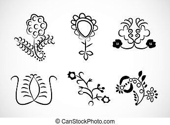 lace embroidery floral ornaments