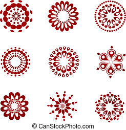 Collection of lace icons