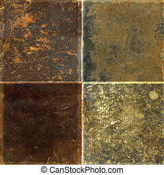 Collection of leather textures - Collection of four rough...