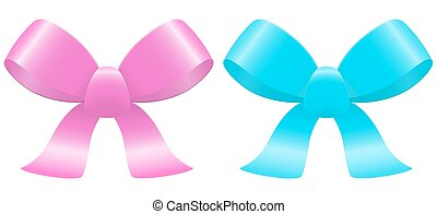 light blue and rose bows