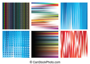 Collection of linear structures of different colours. A vector illustration