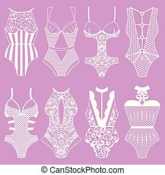Collection of lingerie. Body. - Collection of lingerie. Body...