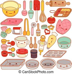 Collection of lovely pastry tool and equipment , cute...