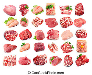 Collection of meat.
