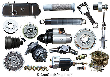 collection of mechanical auto parts