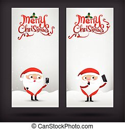 Collection of merry christmas card template with copyspace vector illustration eps10 004