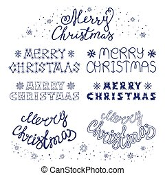 Collection Of Merry Christmas Hand Lettering