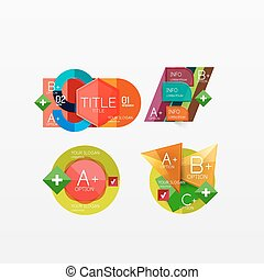 Collection of modern business infographic templates