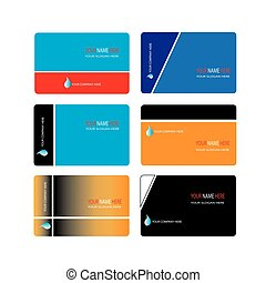 Collection of modern elegant business card