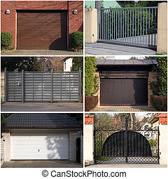 collection of modern gates