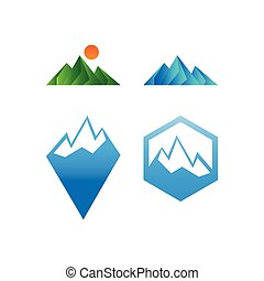 Collection of mountain graphic template