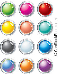 multicolored vector buttons - Collection of multicolored...