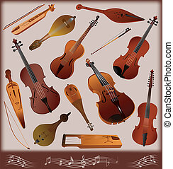 Collection of musical instruments s