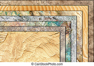 collection of natural textures superimposed