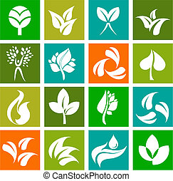 Collection of nature icons and logos - 6