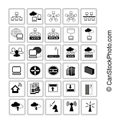 Collection of Network Web icon