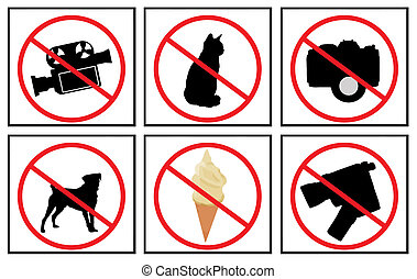 collection of no signs