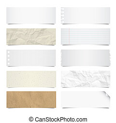 Collection of note papers background. - Collection of note...