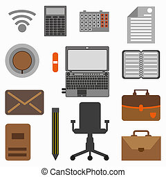 Collection of office objects