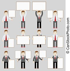 Collection of office worker