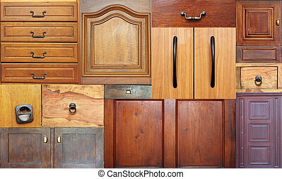 collection of old drawers in the same image for your design